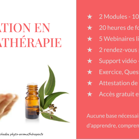 Formation en aromathérapie