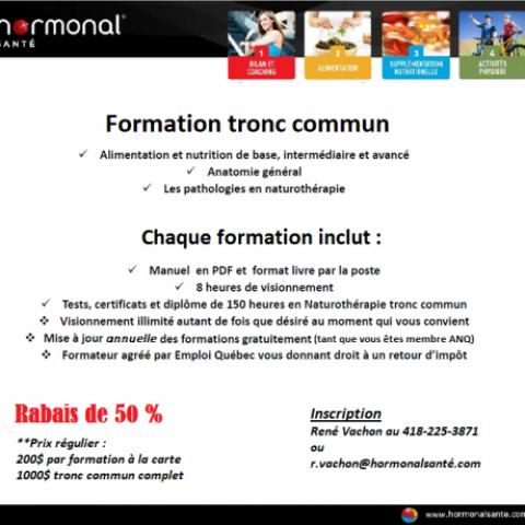 Hormonal Santé Escompte de 50 % membre ANQ