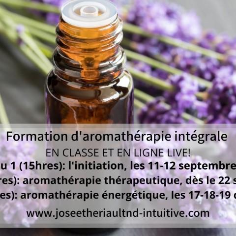 Formation aromathérapie intégrale